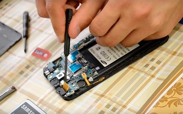 ремонт материнской платы телефона Samsung